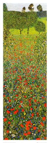 Campo Di Papaveri Prints by Gustav Klimt at AllPosters.com