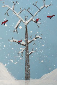 Winter Trees by 1st grade | Flickr - Photo Sharing!