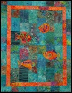 QuiltAFish Quilt Pattern by LynBrownDotCom on Etsy, $8.00