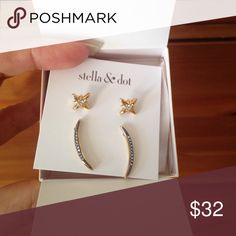 Stella and Dot - moon and stars stud pack - Brand new in box - on website now. Great xmas gift! Stella & Dot Jewelry Earrings