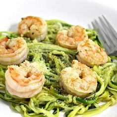 Skinny Shrimp Scampi over Low Carb Zoodles