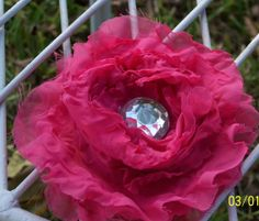 Bright Pink Flower Hair Clip Custom Orders by TheQueensDaughters, $7.00