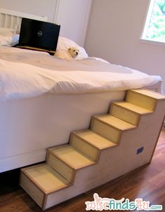 Diy Pet Stairs Simple Steps You Can Make Yourself Pet Stairs Build Diy Pet Steps Build Basic Small Dog Diy These Dog Steps From Ikea Crates Ikea Hackers Wood Dog Steps Ideas On Foter Diy… Dog Steps For Bed, Pet Steps, Dog Ramp For Bed, Diy Pet, Dog Furniture, Furniture Buyers, Furniture Stores, Animal Projects, Diy Projects