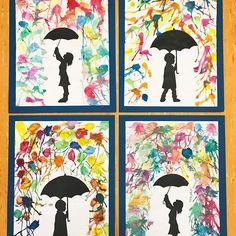 ☂️ • r e g e n d u s c h e • ☂️ . . . Zugegeben fehlt mir der Regen gerade ☔️ Mit den 20 Grad zurzeit kann ich nicht so viel anfangen ☀️ Ständig hab ich Kopfschmerzen und es ist einfach zu warm 🌴 Nichtsdestotrotz malen wir gerade viele Herbstbilder - im Schulhaus müssen die Sommerbilder weichen 🌻 Die Idee habe ich bei @frau_goldisch gesehen 💕 Meine Drittklässler haben das super hinbekommen ✔️ Die Schüler haben die Kinder mit dem Regenschirm nicht selber ausgeschnitten ✂️ Ich habe die…