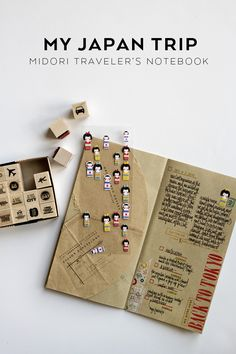Blog post + video for using a Midori Traveler's Notebook to document a trip to Japan.