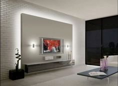 Modern tv cabinet design for living room modern wall unit best modern wall ideas on room . modern tv cabinet design for living room modern cabinet designs Tv Wall Design, Tv Unit Design, House Design, Modern Tv Cabinet, Modern Wall Units, Painel Tv Sala Grande, Plafond Design, Tv Wall Decor, Wall Tv