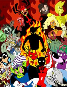 Cartoon Network Villains Tribute by cowheaddanny on DeviantArt - Cartoon Videos Kids For 2019 Cartoon Network 90s, Cartoon Network Characters, Best Cartoons Ever, 90s Cartoons, Random Cartoons, Cartoon Crossovers, Cartoon Gifs, Cartoon Fan, Miss The Old Days