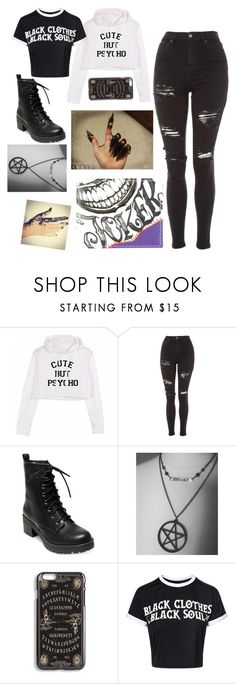"""those days you feel like breaking someones face"" by t-leann-moore ❤ liked on Polyvore featuring Topshop, Madden Girl and DC Comics"