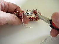 Bead Crochet Tips and Techniques: How to add a safety chain to Bead Crochet jewelry
