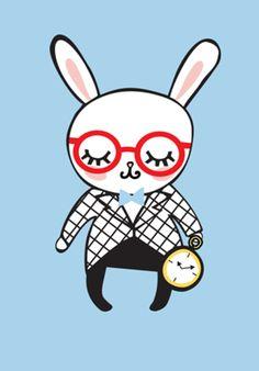 Poster coelho do Studio Adonadabolsinha por R$90,00