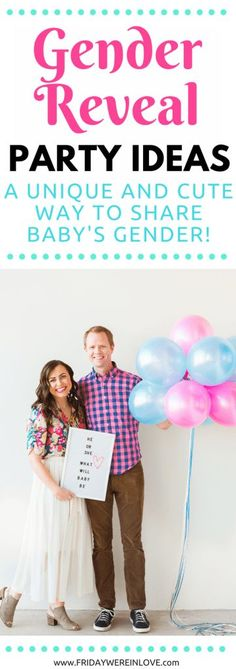 This is such a fun way to host an easy gender reveal party. This outdoor gender reveal party makes for a fun surprise with perfect pictures! Gender Reveal Video, Simple Gender Reveal, Baby Shower Balloons, Baby Shower Parties, Baby Showers, Baby Party, Gender Announcements, Prenatal Workout, Baby Gender