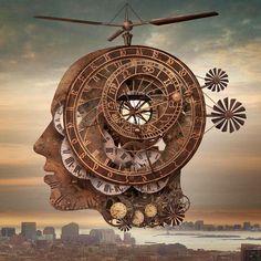 steampunk art by Igor Morski Rene Magritte, Salvador Dali, Steampunk Kunst, Steampunk Artwork, Vladimir Kush, Affinity Photo, Illustrations, Illustration Art, Creative Photos
