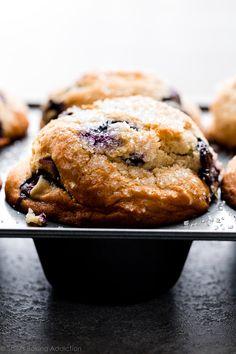 Best Blueberry Muffins, Blueberry Recipes, Blue Berry Muffins, Bakery Style Blueberry Muffin Recipe, Blueberry Muffins Almond Flour, Jumbo Blueberry Muffin Recipe, Blueberries Muffins, Blueberry Cookies, Muffin Batter Recipe