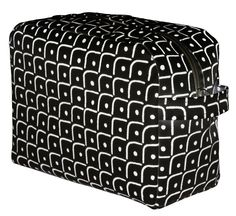 Toiletry bag in pattern Smile black by Tom Hedqvist. The Fun Collection 2014. www.tiogruppen.com.