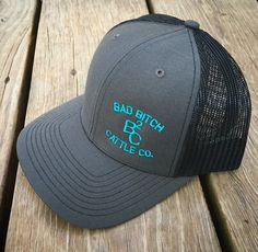 Charcoal/Turquoise Bad Bitch Cap