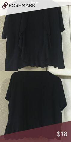 Gently used Cardigan Black shirt sleeve cardigan Tops Blouses