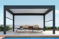 The SUNAIR® retractable fabric roof Pergola® Awnings are the ultimate in comfort for residential outdoor spaces. All of our PERGOLA® retra Diy Pergola, Pergola With Roof, Wooden Pergola, Covered Pergola, Outdoor Pergola, Pergola Shade, Patio Roof, Attached Pergola, Deck Patio