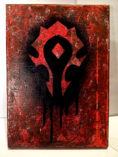 Wow Horde Logo Wall Lamp Lighted World Of Warcraft Horde
