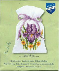Cross Stitch Numbers, Cross Stitch Cards, Cross Stitch Flowers, Cross Stitch Designs, Cross Stitch Patterns, Sachet Bags, Stitch Witchery, Embroidery Stitches Tutorial, Iris Flowers