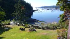 View over Ganges Marina, from Hastings House Hotel, Saltspring Island, British Columbia
