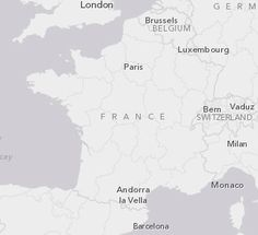 Check out #Esri's new Light Gray on #ArcGIS Online - Now available at large scales, the perfect background to reveal your map informations !