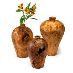 Artisan Root Wood Vases (431090028), Recycled Glass Vases, Ceramic Vases,
