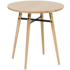 Solid Oak & Metal Milo Side Table | Temple & Webster