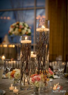 27 Rustic Wedding Decorations You Must Have A Look---floating candle wedding table settings with tree branches, fall wedding centerpieces, centerpieces branches 35 Rustic Wedding Decorations Chic Wedding, Dream Wedding, Trendy Wedding, Wedding Rustic, Rustic Weddings, Elegant Wedding, Vintage Weddings, Autumn Wedding, Small Country Weddings