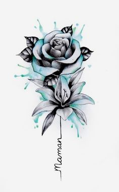 Do you need an individual design? Then you are right here. # tattoos - diy tattoo images - Tattoo Designs For Women Body Art Tattoos, Tattoo Drawings, Small Tattoos, Sleeve Tattoos, Tatoos, Flower Drawings, Rose Drawing Tattoo, Arm Tattoos, Tattoo Sketches