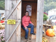 Me in the out house...taken in the mountains Oct. 2012