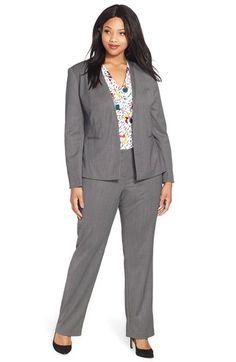Halogen® Suit Jacket, Blouse & Suit Pants (Plus Size) available at #Nordstrom