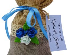 Lace Favor Bags Wedding Favor Bags With Custom Tags by Printdotpot