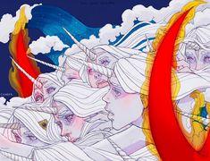 """The Last Unicorn"", Chiara Bautista. Ex Libris, Character Inspiration, Character Art, Chiara Bautista, The Last Unicorn, Goth Art, Creature Design, Cartoon Drawings, Art Inspo"