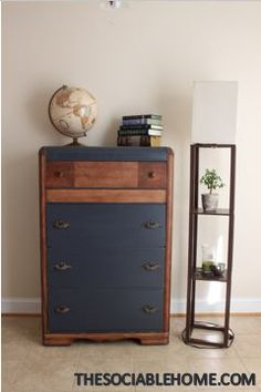 Don't know what to do with your ugly Vaughn Bassett waterfall dresser? You can refinish your art deco piece into a bedroom's centerpiece. Follow these steps!