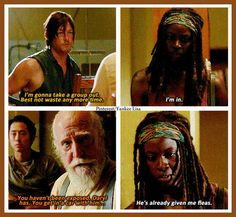 The Walking Dead Michonne and Daryl Friendship is acceptance.