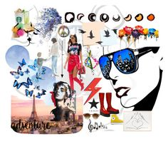 Painel publico alvo by melorenata on Polyvore featuring Jayson Home, Yosemite Home Décor, Bend, Converse and Post-It