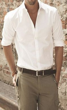 Simple summer look. Ya'll know : I LOVE THE WHITE SHIRT! Can't imagine life without it!... ...... ....................      #men #trends #lifestyle www.morseandnobel.com