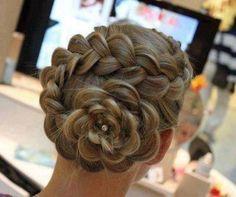 Rosette hair style @Emily Schoenfeld Schoenfeld Wagner