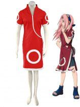 Naruto Cosplay Sakura Haruno Child Uniform Cosplay Costume