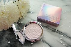 Love this new highlighter! BECCA Prismatic Amethyst: a pink-purple duo-chrome with an iridescent finish!