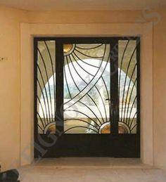 porte d 39 entr e exterieur en fer forg facade pinterest entr es et recherche. Black Bedroom Furniture Sets. Home Design Ideas