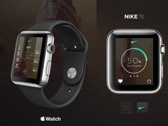 On the Creative Market Blog - The 50 Best Apple Watch Face and App Concepts So Far: Nike Running App Concept by geo1