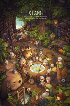 "Xiang, ""精灵之森"" (""Forest Elves"").  Oh my goodness.  This is so beyond adorable, I don't even have the words."