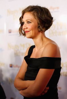 acae380ab195 Maggie Gyllenhaal came in an elegant Short Curly Hairstyle Looks. She gave  a genteel and fascinating looks to her short hairs by adding some wavy and  curly ...