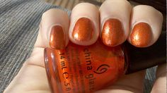 """Riveting (District 3 - Technology) nail polish by China Glaze from the Hunger Games Collection, """"Capitol Colours""""."""