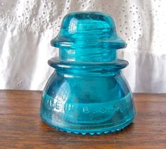 Vintage Glass Insulator Turquoise Hemingray 42 by cynthiasattic, $19.00