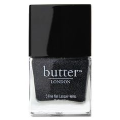 Grey Glitter Nail Polish - Gobsmacked : butter LONDON (105.035 IDR) ❤ liked on Polyvore featuring beauty products, nail care, nail polish, beauty, makeup, nails, fillers, textured nail polish, gray nail polish and butter london
