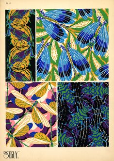 Insectes. [patterns]