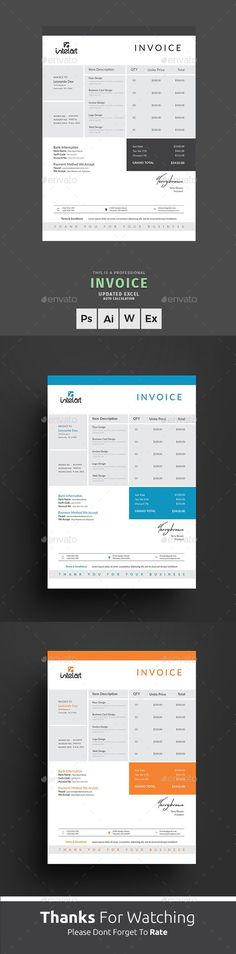 Business Invoice Templates Us Letter  Template Buy Business And
