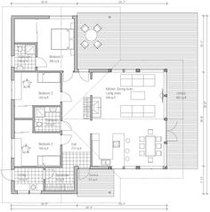 Ranch Style House Plan - 3 Beds 2 Baths 1444 Sq/Ft Plan #537-16 Main Floor Plan - Houseplans.com